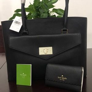 Kate spade Halsey Tote and wallet leather.